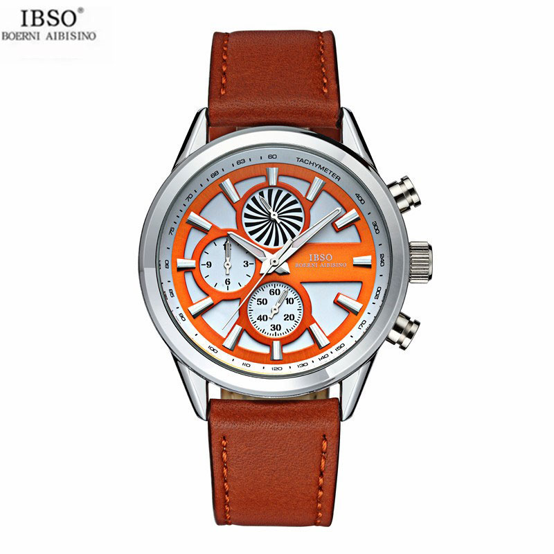 IBSO Quartz Watch With Stick Markers Ultra-Thin Casual Men Watch 8138