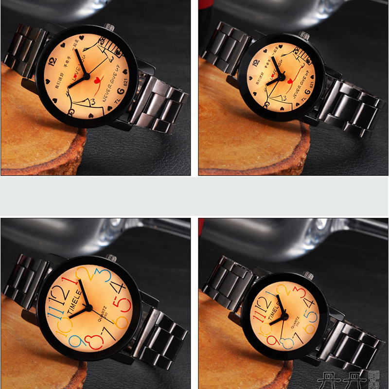 Fashion Watch with Yellow Dial Quartz Couple Watch 68494
