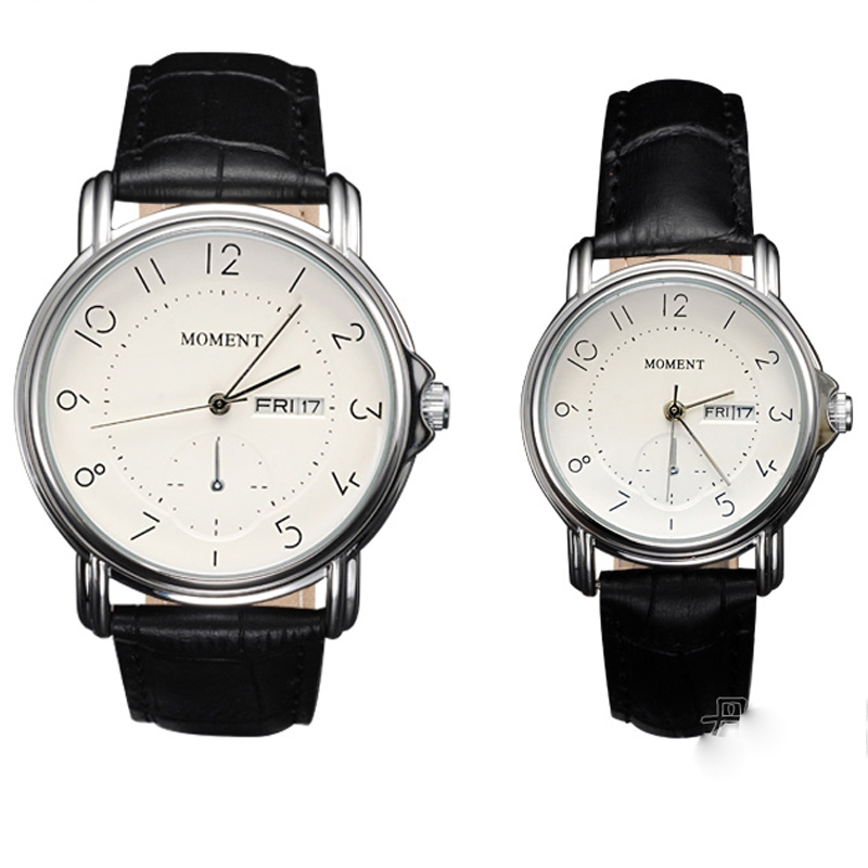 Fashion Watch with White Dial Watch Couple Quartz Watch 67961