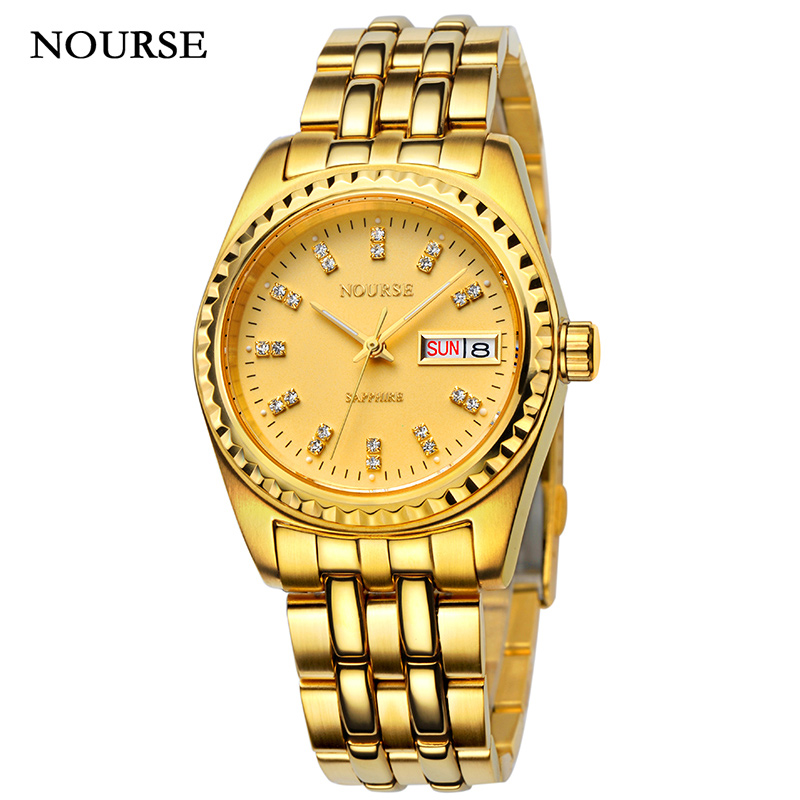 NOURSE Automatic Watch Men Watch Casual Day-Date Luminous Watch N3033