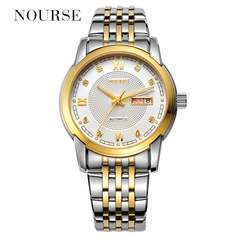NOURSE Automatic Watch Men Watch Day-Date Luminous Business Watch 3032