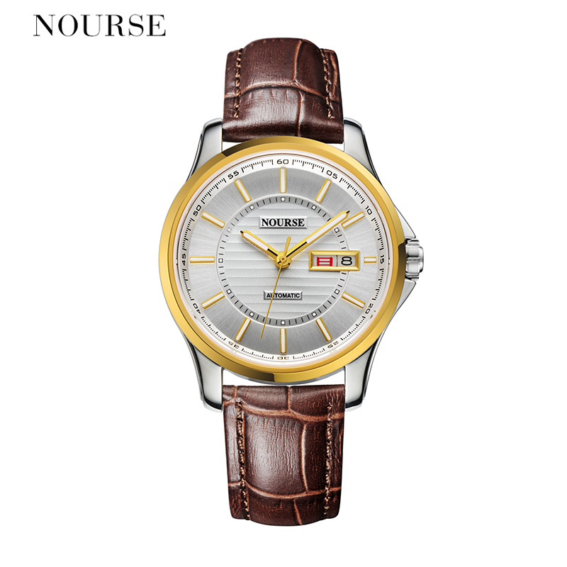 NOURSE Automatic Watch Men Dual Calendar Watch Fashion Watch 3050