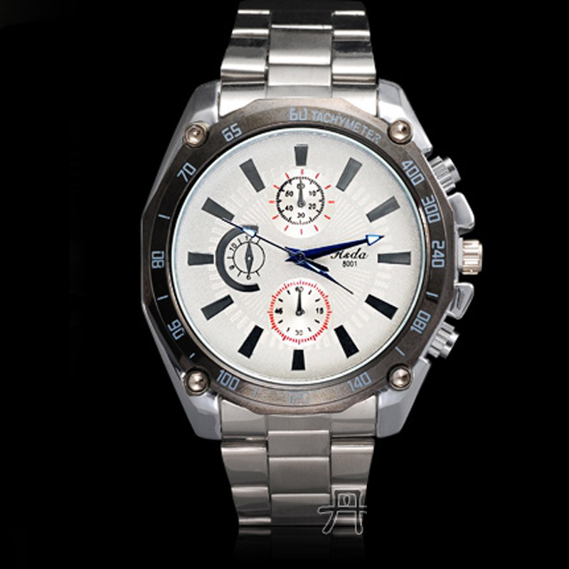 Fashion Watch with White Dial Watch Alloy Quartz Watch 68788