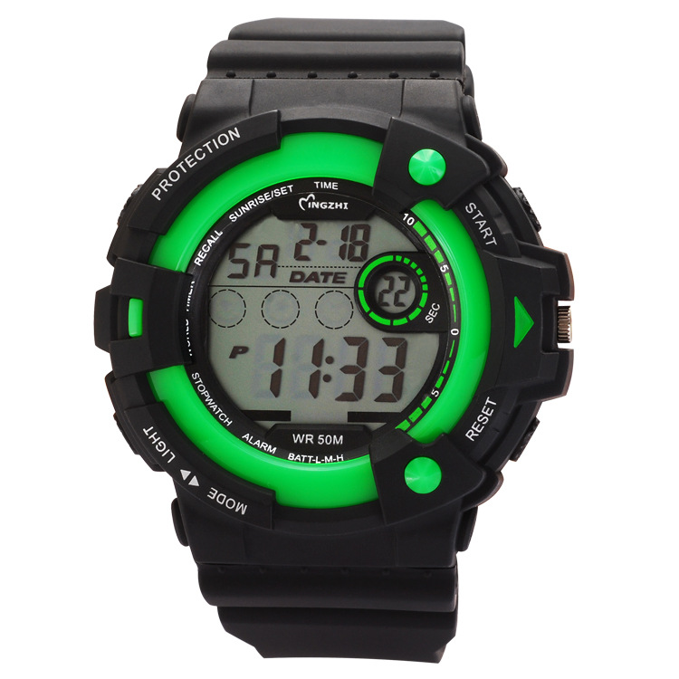 Fashion Watch Grey Dial Sports Digital Watch Waterproof Watch 68916