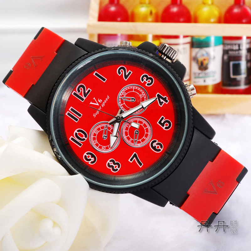 Fashion Outdoor Sports Watch with Red Dial Watch Quartz Watch 68263