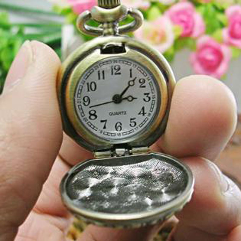 Vintage Pocket Watch With Numbers Measure Markers Quartz  Watch