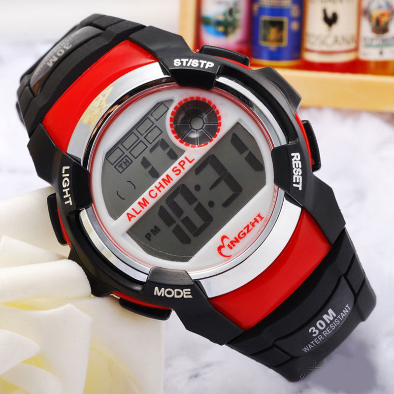 Casual Digital LED Watch With Black Rubber Strap Sports Watch 68281