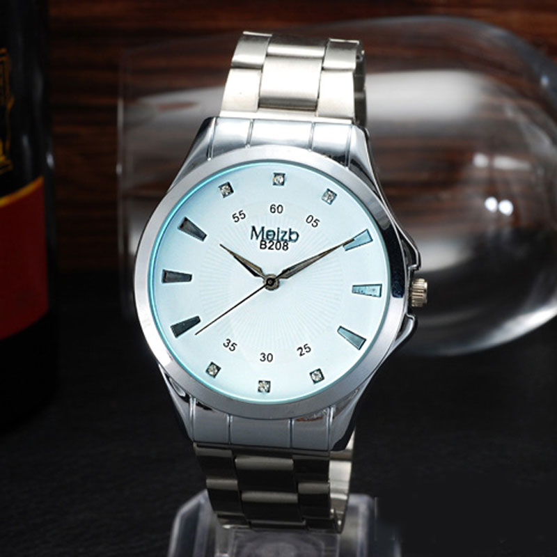 Fashioon Business Watch With Simple Dial Quartz Steel Men Watch
