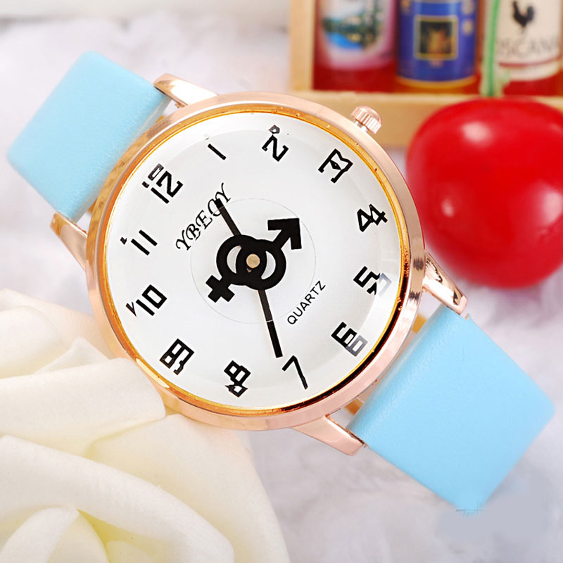 Casual Watch With White Dial Quartz Leather Strap Women Watch 69113