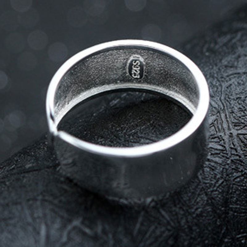 925 Sterling Silver Ring Fashion Simple Ring for Women E435