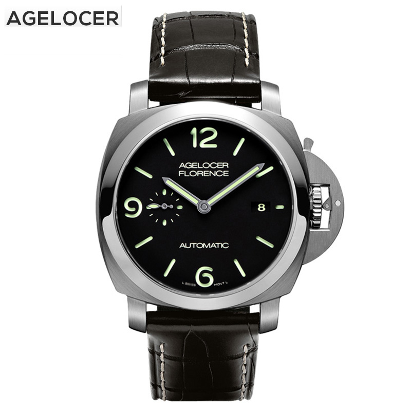 AGELOCER Watches Men Mechanical Movement Waterproof 100M Military Watch