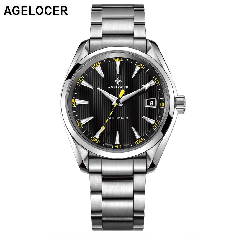 AGELOCER Brand Men Waterproof 100M Automatic Mechanical Movement Business Watches