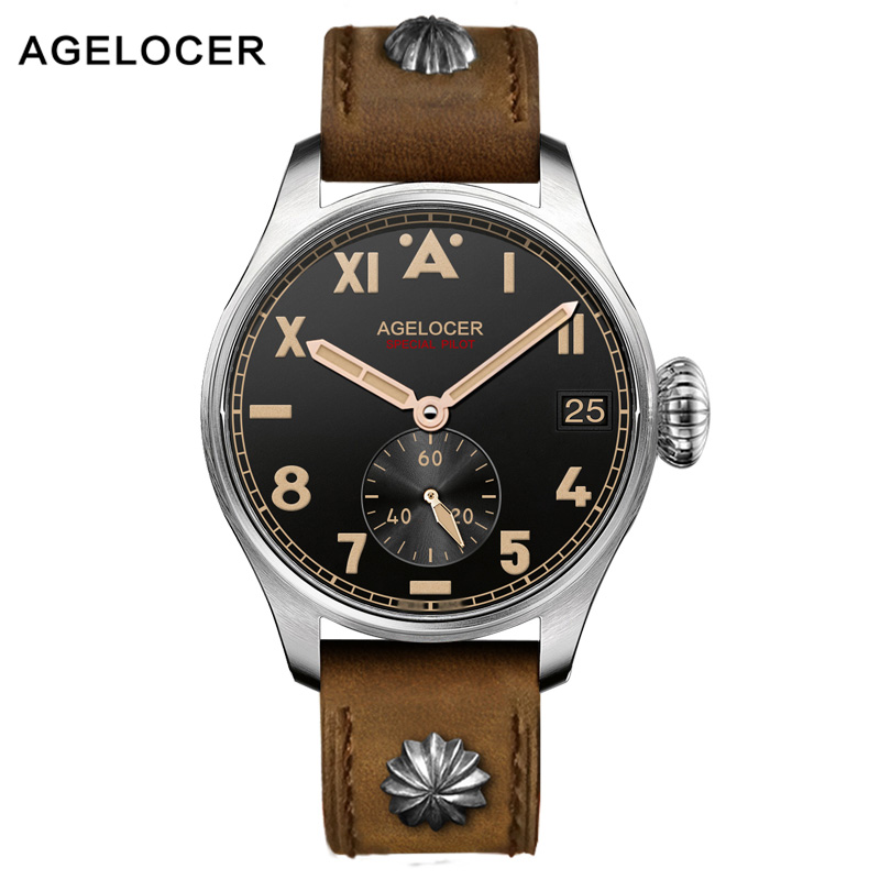 AGELOCER Brand Men Military Watch  Automatic Mechanical  Movement Waterproof 100M