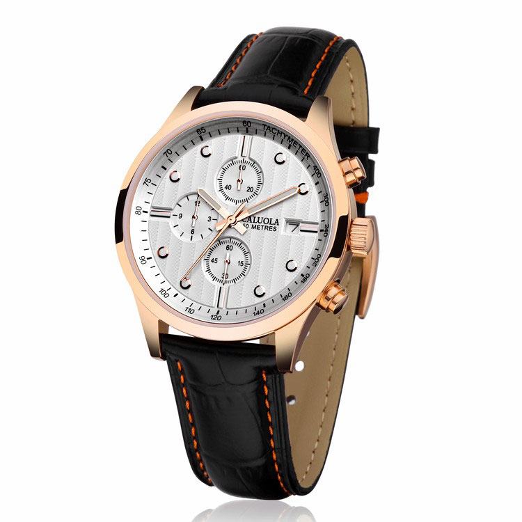 Rose Gold White Dial Leather ( -$5.00 )