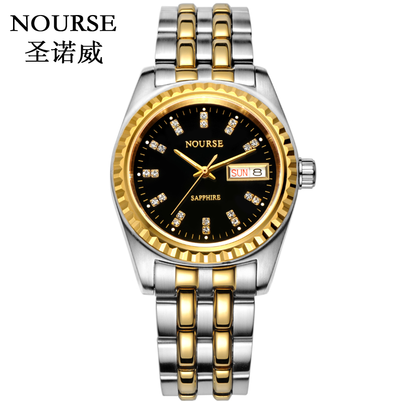 Full Two Tone Black Dial (Yellow Gold)