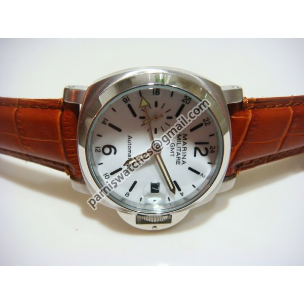 Steel White Dial Leather
