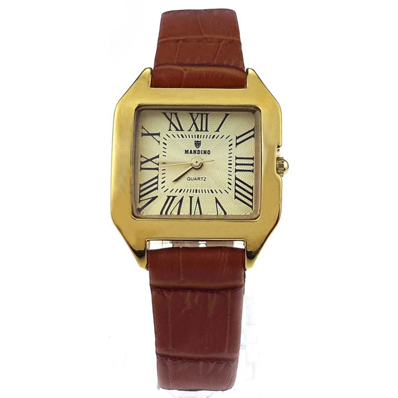 Yellow Gold Brown Leather ( +$2.00 )
