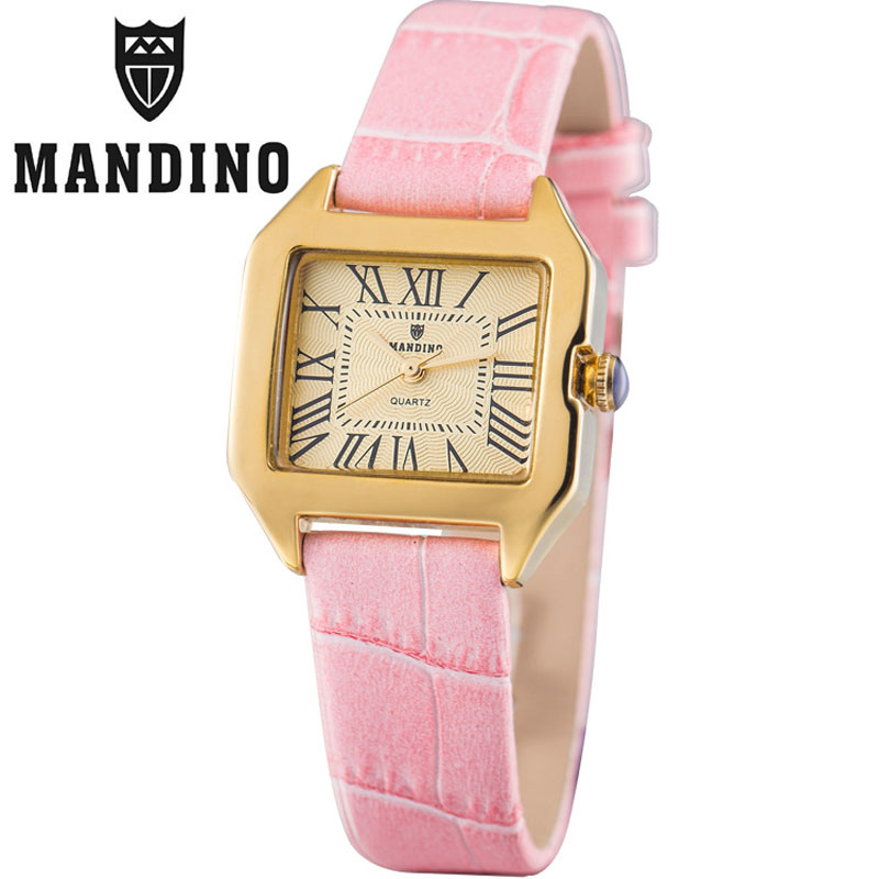 Yellow Gold Pink Leather ( +$2.00 )