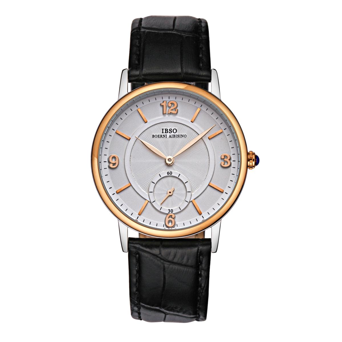 IBSO Top Quality Quartz Watch with Genuine Leather Strap Stick Markers Watch YYP3976