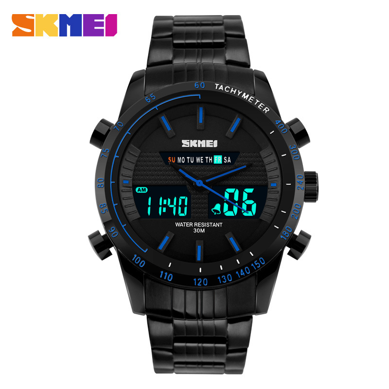 SKMEI Korean Style Fashionable Brand Waterproof Multifunction Analog-digital Men Watch