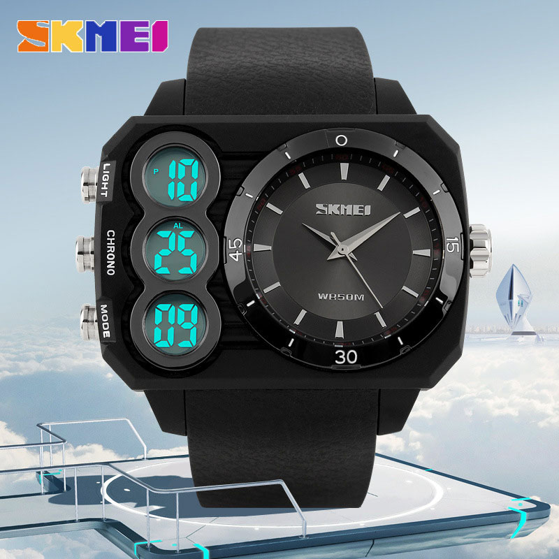 SKMEI Popular Fashion Analog-Digital Multifunction Waterproof Outdoor Sports LED Men Watch