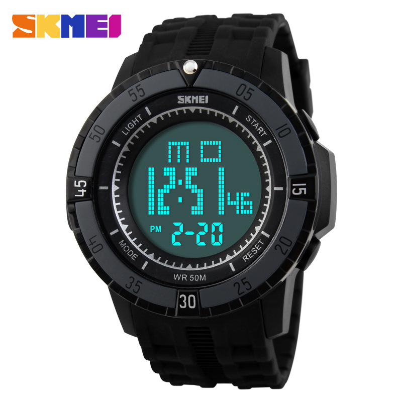 SKMEI Round Outdoor Sport Digital Waterproof Luminous Children Watch