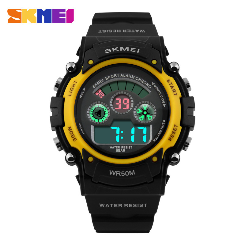SKMEI Children Digital Sports Alarm Stopwatch 50M Waterproof Night Light Multifunction Watch