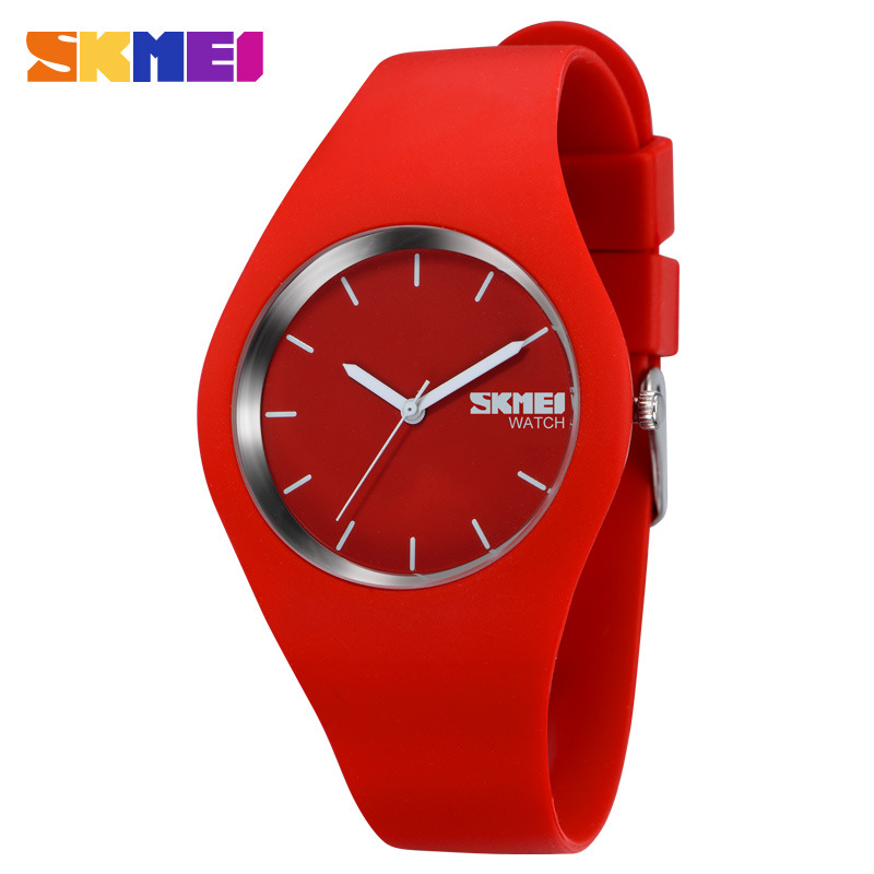 SKMEI New Fashion Brand Famous Silicone Casual Sport Quartz Wristwatch For Women