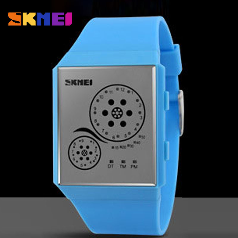 SKMEI Novel Design Fashion Waterproof Luminous Korean Style Boys Girls LED Watch