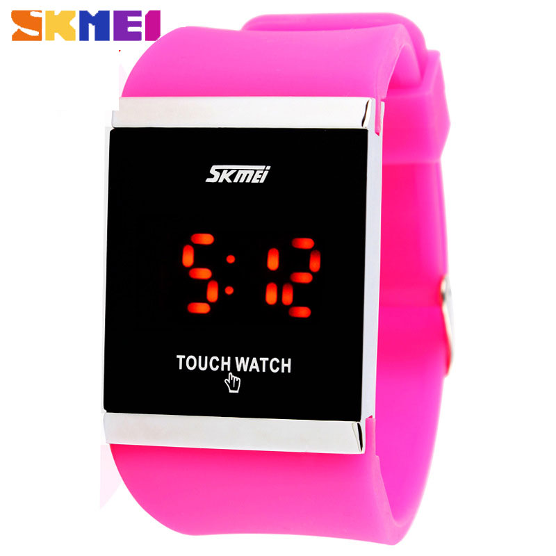 SKMEI Hot Sale Fashion Touch Screen Digital Waterproof Electronic Watches for Women