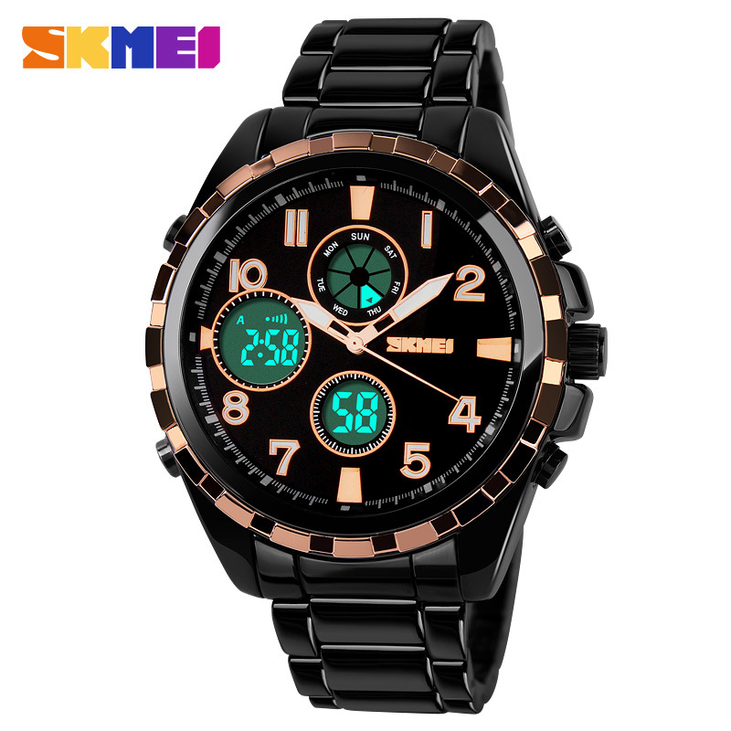 SKMEI Brand Fashion Outdoor Waterproof Chronograph Analog-Digital Men Watches