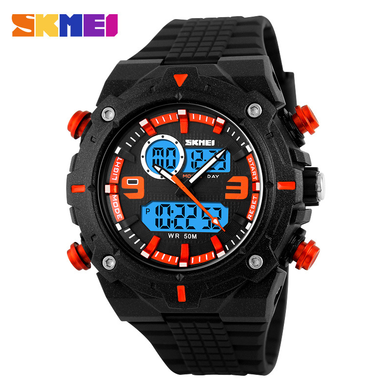 SKMEI Fashion Super Cool Multifunction Waterproof Analog-Digital Men Watches