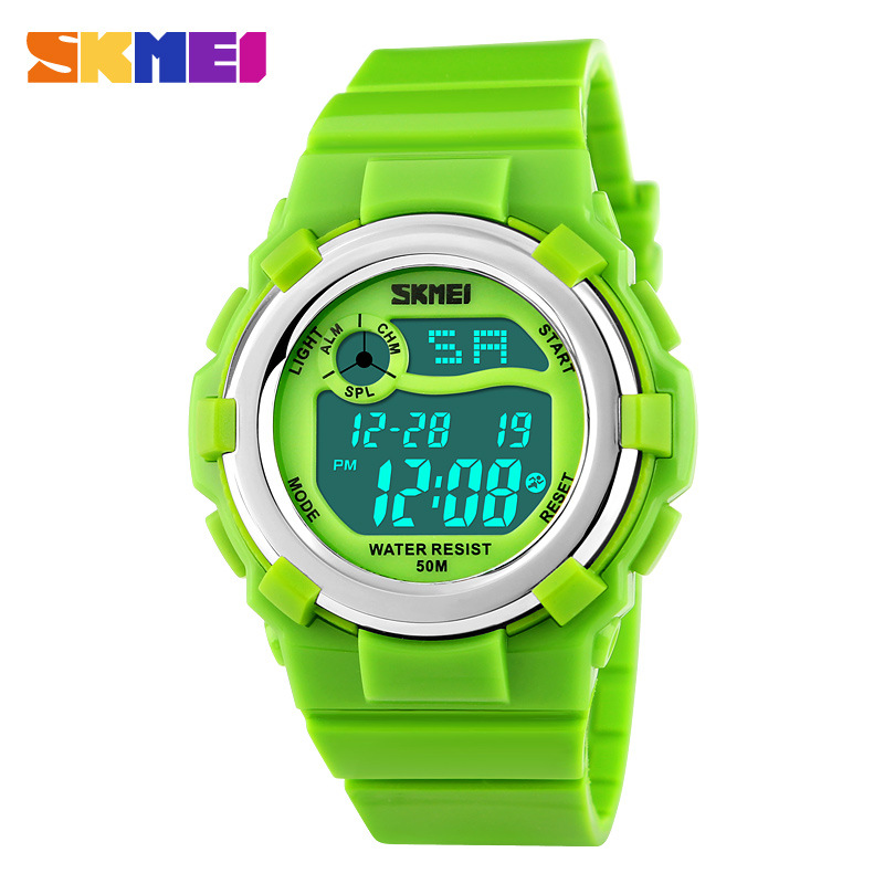 SKMEI Brand Waterproof LED Multifunctional Digital Watch For Girl Boys Kids Student