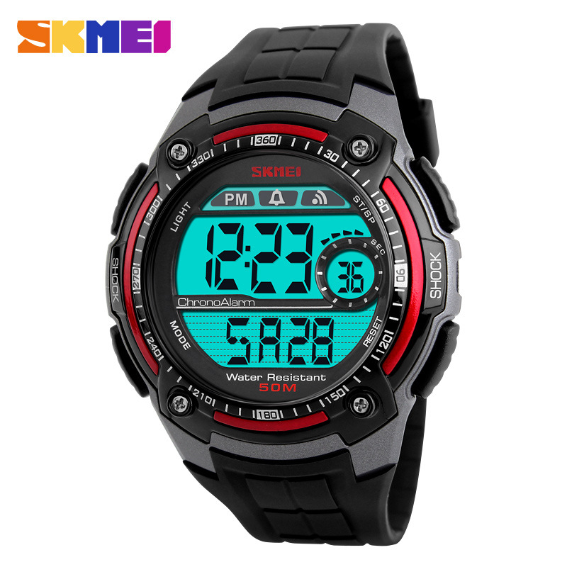 SKMEI Brand Waterproof Multifunction Personalized LED Digital Big Dial Men Wristwatches