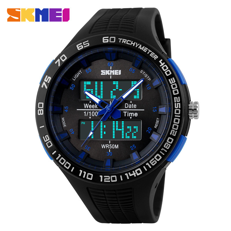 SKMEI Brand Multifunction LED Digital Waterproof Round Men Wristwatches
