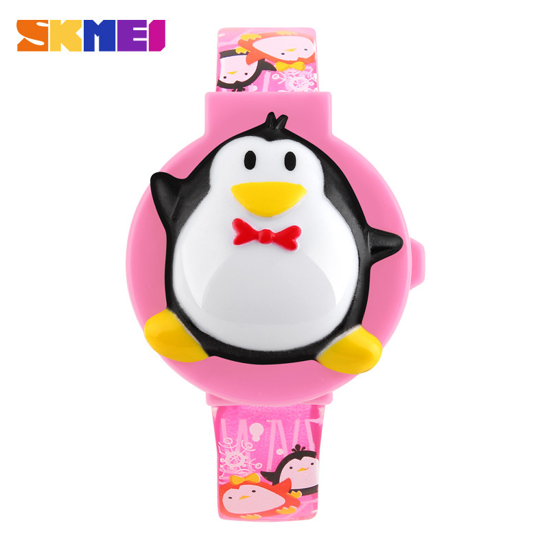 SKMEI Cute Fashion Digital Penguin Shape Dial Kids Wristwatches