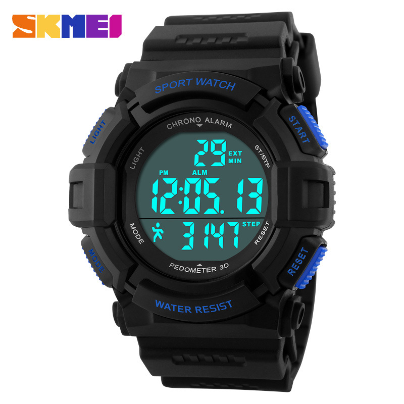 SKMEI Fashion Waterproof Electronic Pedometer Multifunctional Men Watches