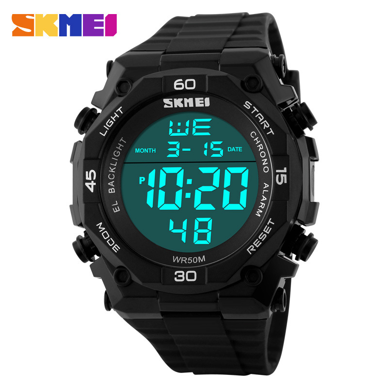 SKMEI Fashion Waterproof Electronic Multifunctional Personality Men WristWatches