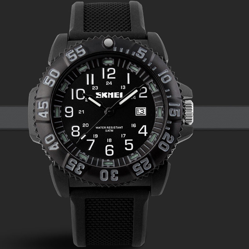 SKMEI Electronic Waterproof Big Dial Analog Luxury Men Watches
