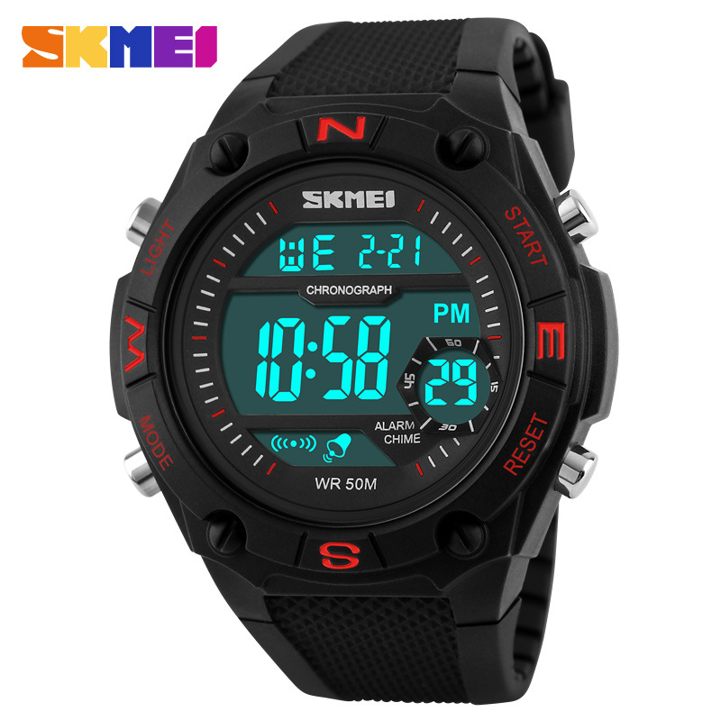 Skmei Luxury Waterproof Electronic Multifunction Round Men Watches
