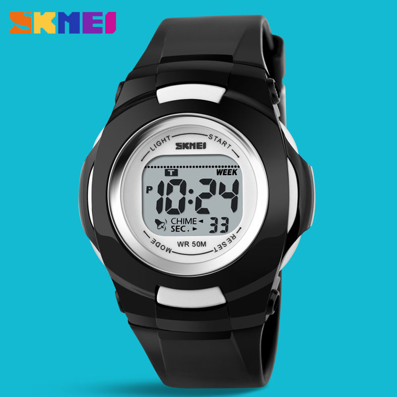 SKMEI Waterproof Personality Digital Multifuntion Kids Wristwatches