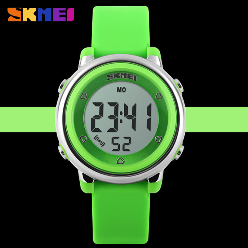 SKMEI Waterproof Electronic Jelly Multifuntion Personality Wristwatches For Kids
