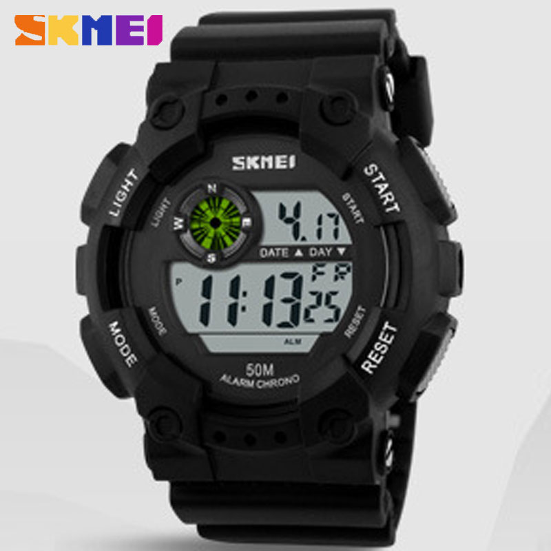 SKMEI Fashion Quartz Waterproof Round Multifunction Casual Style Wristwatches for Men