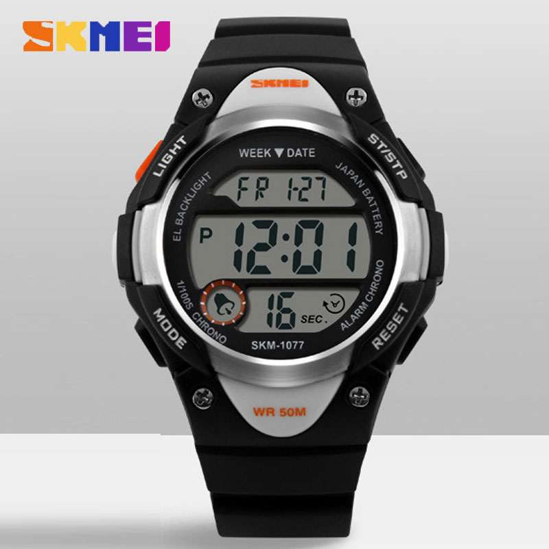 SKMEI Fashion Waterproof Round Electronic Multifunction Casual Style Kids Watches