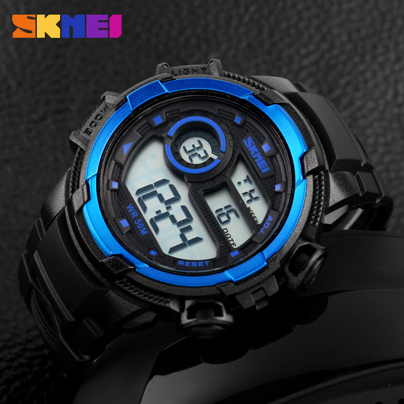 SKMEI Korean Style Creative LED Waterproof Electronic Men Watches