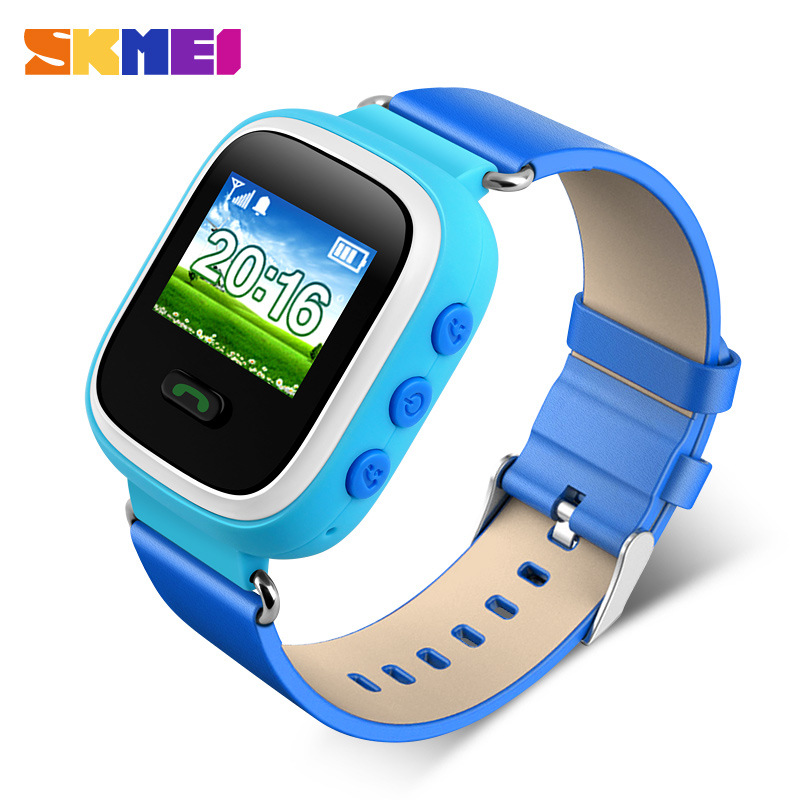 SKMEI ID location electronic jelly Anti Lost GPS Tracker SOS Watch For Kids