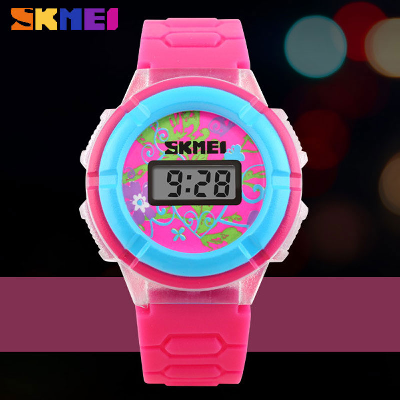 SKMEI Fashion Personality Electronic Led Digital Kids Cartoon Wristwatches