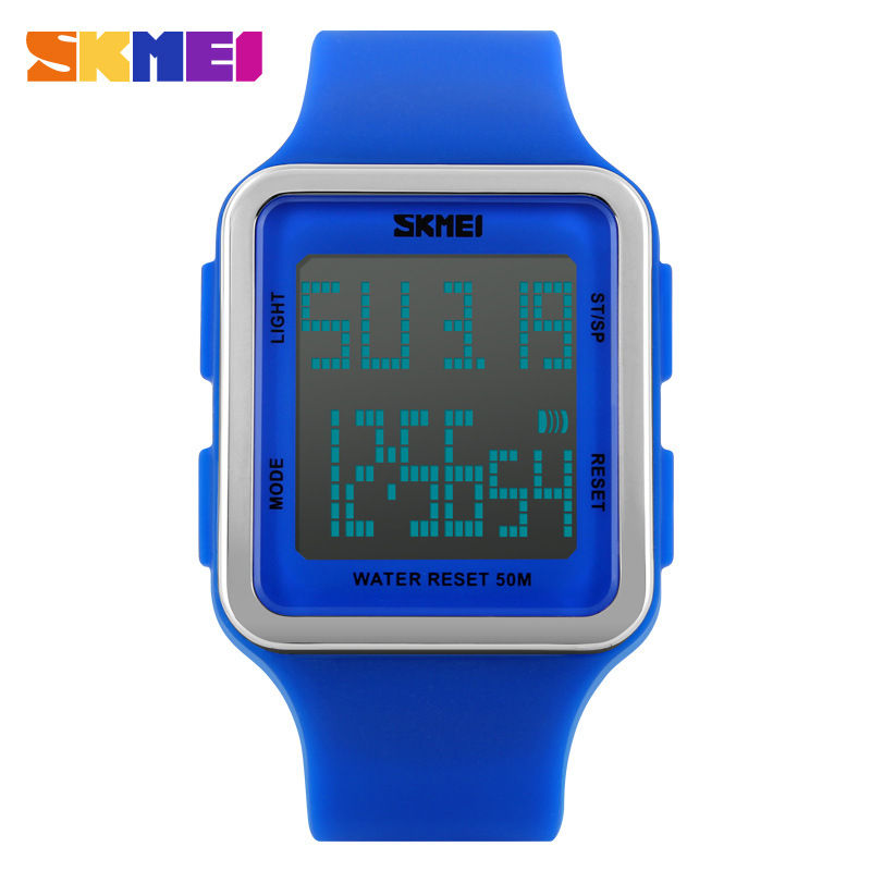 SKMEI Fashion Waterproof Electronic Jelly Multifunctional Women Wristwatches