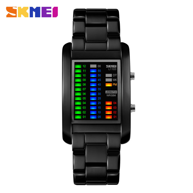SKMEI Creative Personality LED Electronic Waterproof Men Watches