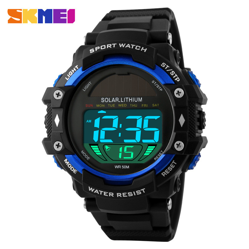 SKMEI Fashion Luxury Solar Power Waterproof Electronic Men Watches